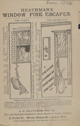 Advert For Heathman's Window Fire Escapes